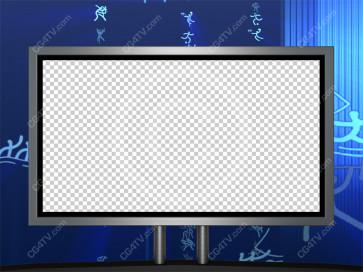 Sport News Studio Set Blue Camera 9 high resolution