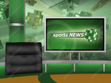 Sports News Studio Background