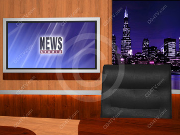 News Virtual Studio Set for two anchors -- Camera 5