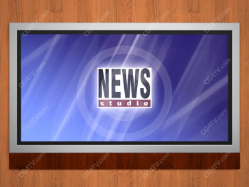 News Virtual Studio Set for two anchors -- Camera 9