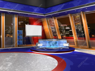 Camera 1. US Colors Virtual News Set