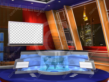 Camera 2. US Colors Virtual News Set