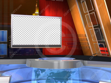 Camera 3. US Colors Virtual News Set