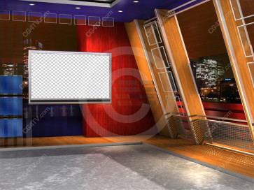 Camera 6. US Colors Virtual News Set