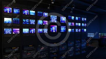 Virtual News Set Background -- Camera 1