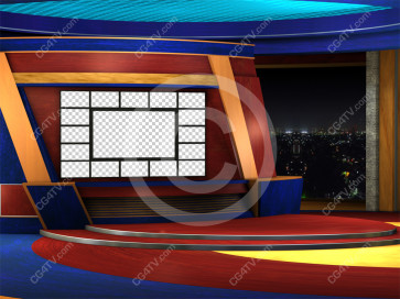 Virtual News Set Multi Screen high resolution