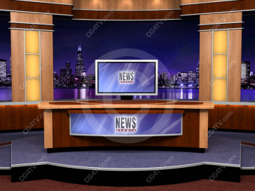 Virtual Newsroom for Two Hosts -- Camera 2 high resolution