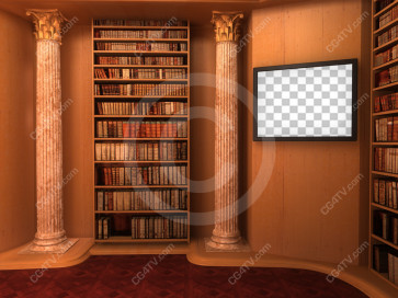Library Virtual Set -- C7 high resolution