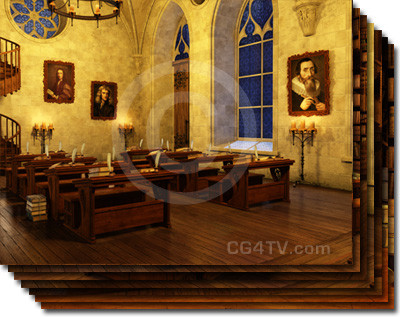 The Old Library Studio Background In Style Of Harry Potter