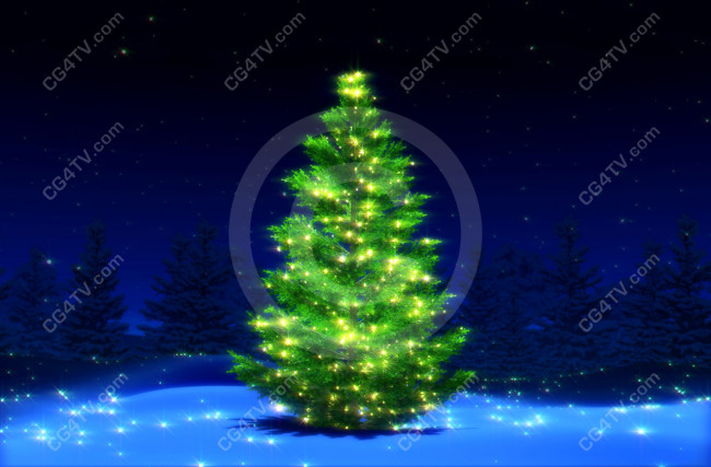 Christmas Tree Picture Virtual Sets Green Screen And