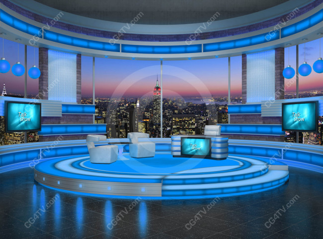 Talk Show Virtual Set