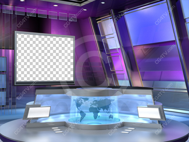 Green Screen Backgrounds for News Virtual Set