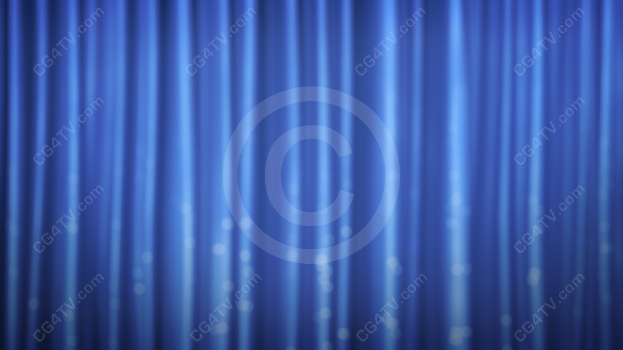 Royalty Free 3d Animated Blue Curtain