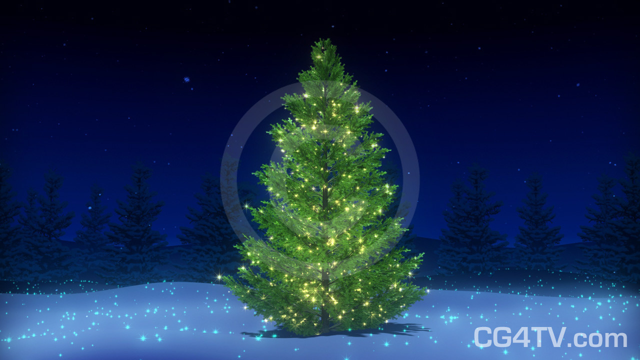 christmas tree 3d animation