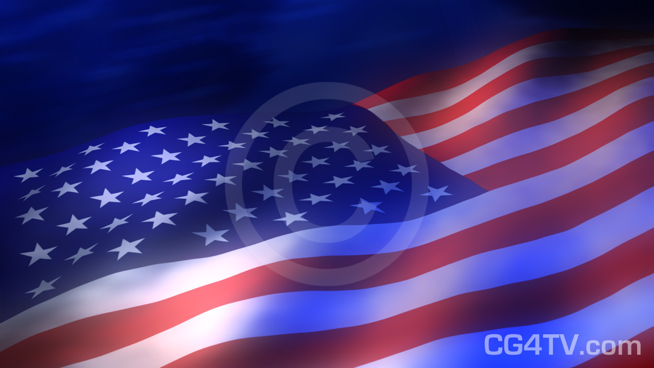 American Flag 3d Animated Background
