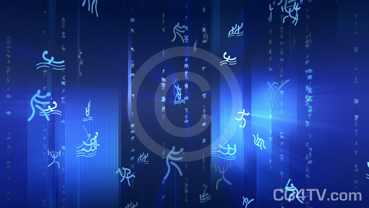 Sports Blue Animated Background