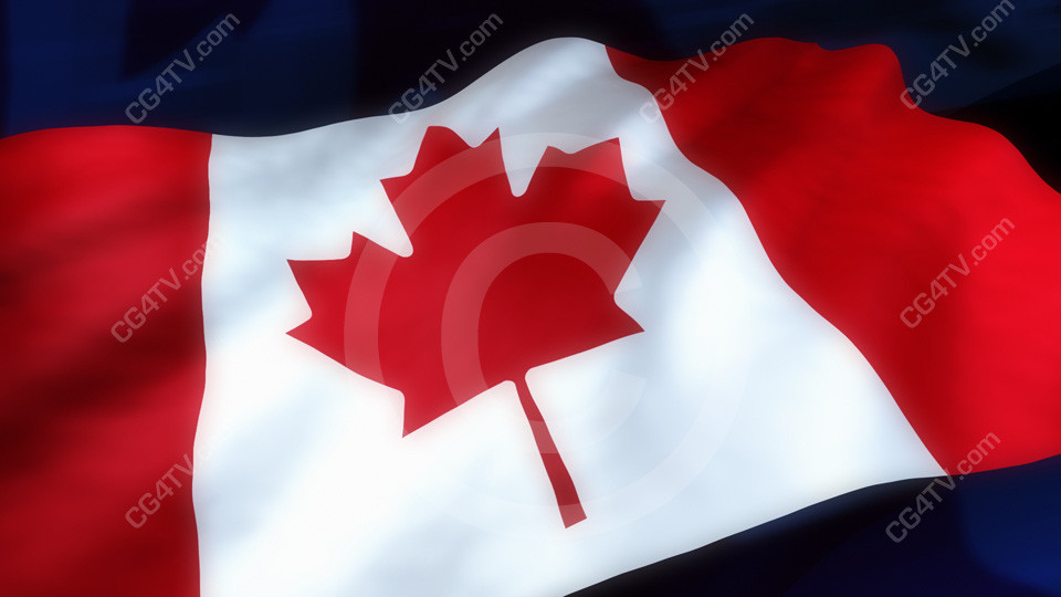 Canadian flag animated background - Canada flag 3d wallpaper ...