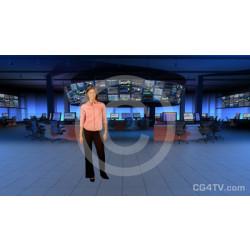 Financial News Virtual Set Preview