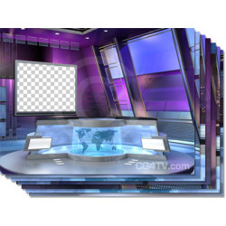Flex Virtual News Set