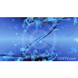 Abstract Snowflakes Image