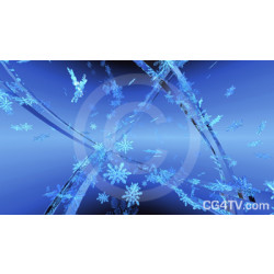 3D Snowflakes Background
