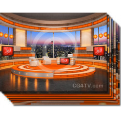 Talk Show Virtual Set Orange