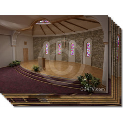 Church Virtual Set