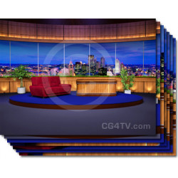 Classic Talk Show Virtual Set