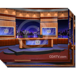 News Virtual Studio Set for two anchors