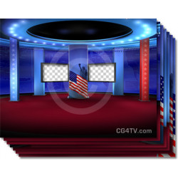 Presidential Virtual Election News Set