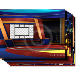 Virtual News Set Multi Screen