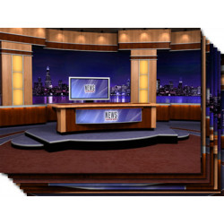 Virtual Newsroom for Two Hosts