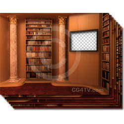 Library Virtual Set