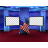 Political News Virtual Set -- Camera 1