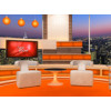 Talk Show Virtual Set Orange -- Camera 4