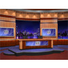 News Virtual Studio Set for two anchors -- Camera 3