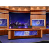 News Virtual Studio Set for two anchors -- Camera 7