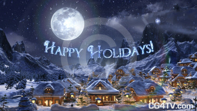 Happy Holidays 3D Clip