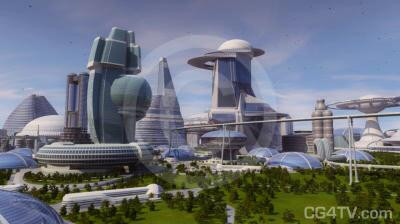 Future City 3D Animation