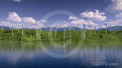 Hill Wind Farm Animation