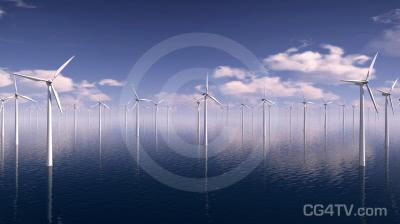 Offshore Wind Farm Animation