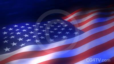 American Flag 3D Animation
