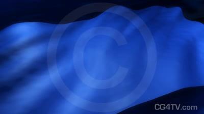Blue Flag 3D Animation