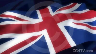 English Flag 3D Animation
