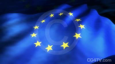 European Flag 3D Animation