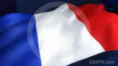 French Flag 3D Animation
