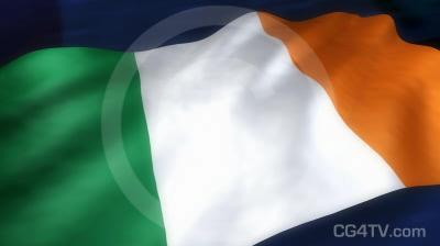 Irish Flag 3D Animation