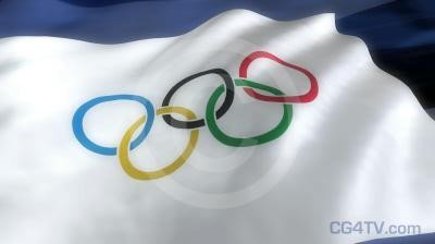 Olympic Flag  3D Animation