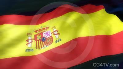Spanish Flag 3D Animation
