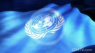 UN Flag 3D Animation